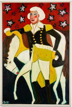 Lilian Webb Outsider Art Portrait, George Washington