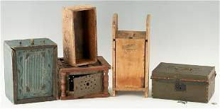 4 Primitive Boxes & 1 Foot Warmer