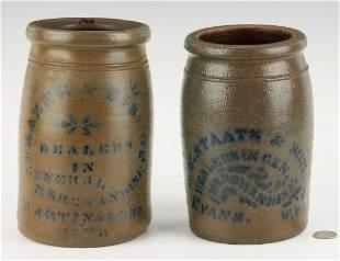2 W. VA Stoneware Jars, incl. Frazier, Staats