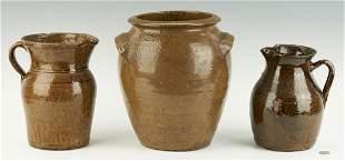 3 Southern Stoneware Pottery Items