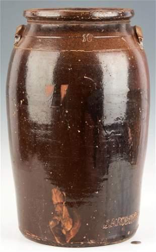 J.A Roberts Middle TN Pottery 10-Gallon Jar