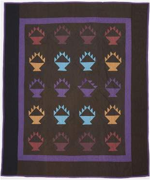 "Amish Basket or ""Hands"" Quilt, multiple colors"