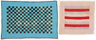 Two Quilts incl. Crib Quilt, possibly Amish