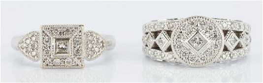 2 Philippe Charriol Gold & Diamond Rings