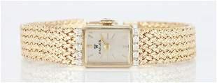 Ladies Vintage 14K & Diamond Rolex Dress Watch