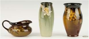 3 Pcs. Rookwood Art Pottery