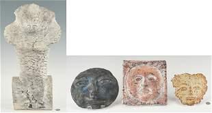 3 Olen Bryant Ceramic Sculptures & 1 other