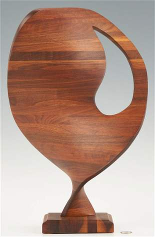 Robert Keyser Abstract Wood Sculpture