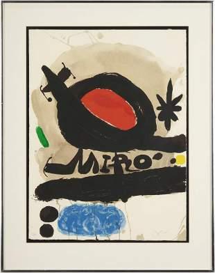 Joan Miro Signed Lithograph, Solar Bird, Lunar Bird,