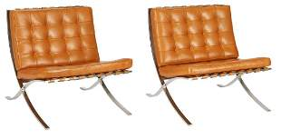 Pair of Barcelona Knoll Chairs