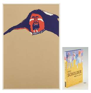 Fritz Scholder Serigraph and Book, 2 items