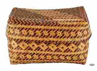 Eva Wolfe Native American Cherokee Basket