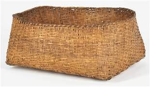 Large Native American Cherokee Rivercane Basket