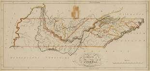 State of TN Map, M. Carey, 1814