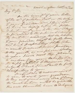 Andrew Jackson ALS, 1830