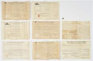6 F. Pierce Secretarial Signed Land Grants, 8 items