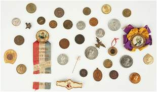 Group of Political Items, incl. End of Pain 1793 Token