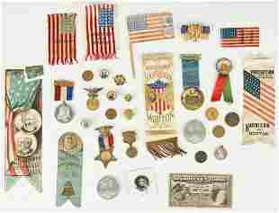 31 Political Related Ephemera Items, incl. B. & Wm. H.