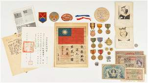 """WWII Archive, incl. Flying Tigers AVG """"Blood Chit"""""""