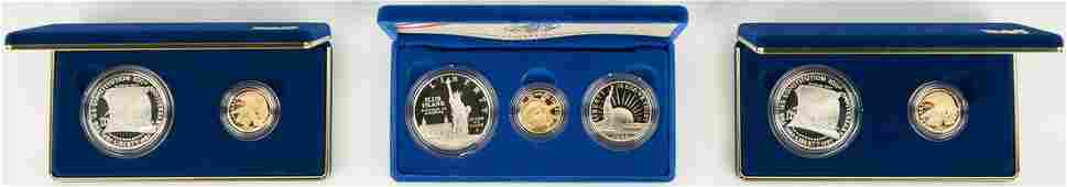 3 US Coin Proof Sets, incl. 1987 Constitutional, 1986