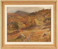 Thomas Craig O/C Painting, New England Autumn Landscape