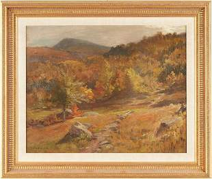 Thomas Craig O/C Painting, New England Autumn Landscape