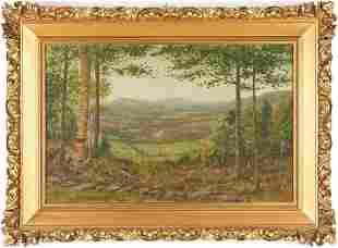 Panoramic Oil on Canvas Landscape, John Earhart
