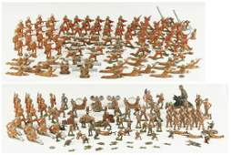 207 Cast Metal WWI & II Toy Soldiers, incl. Manoil