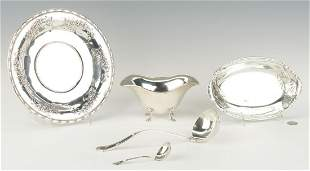 3 Sterling Bowls and 2 Ladles