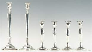3 Prs. Sterling Silver Candlesticks, 6 items