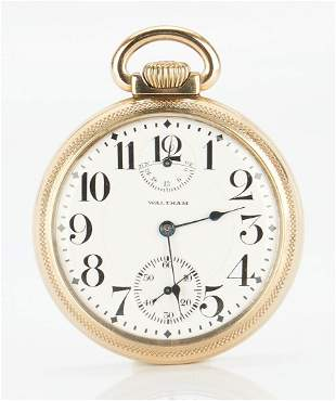 1915 Waltham Vanguard Pocket Watch, Wide Indicator