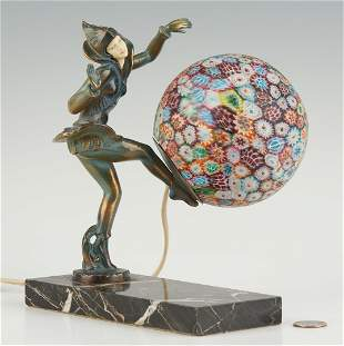 Celluloid and Millefiori Pixie Lamp
