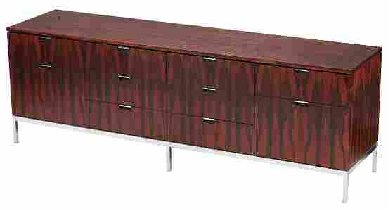 Knoll Rosewood Credenza or Sideboard, wood top