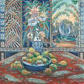 Paul Lancaster O/C, Tropical Still Life