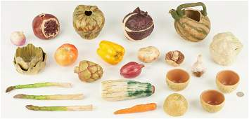 23 Pcs Patricia Garrett Art Pottery Vegetables