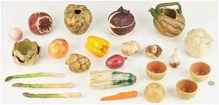 23 Pcs. Patricia Garrett Art Pottery Vegetables