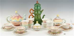 18 Pcs. MacKenzie-Childs Ceramic & Enamel Ware