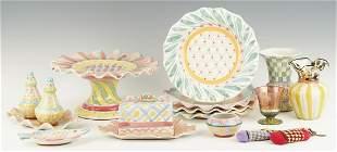 16 Mackenzie-Childs Ceramic, Glass & Other Items