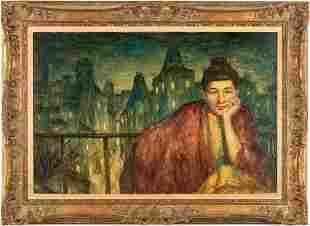 Cortland Butterfield O/C, Portrait of Woman