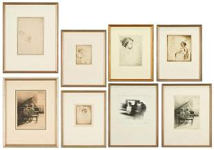 8 Margery Ryerson Prints, Drypoints & Lithographs