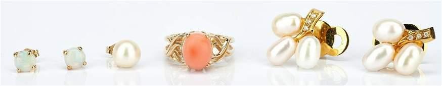 Assorted Ladies 14K Pearl & Diamond Jewelry