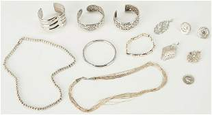 11 Sterling and Coin Silver Jewelry Pieces