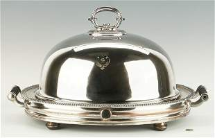 Old Sheffield Plate Warming Stand and Meat Dome