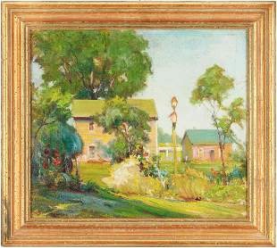 Karl Kappes O/B Painting, Landscape with Houses