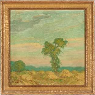 Ludvig Holberg O/C, Impressionist Landscape