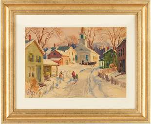 Leo Blake Watercolor Winter Landscape