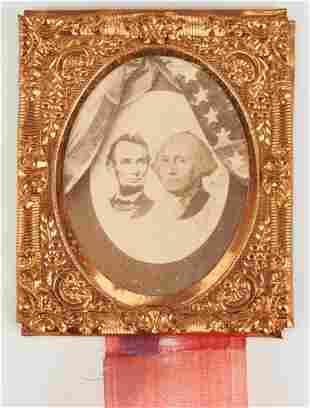 Abraham Lincoln Mourning Ribbon Badge