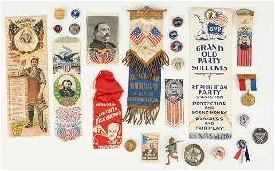 25 Political Related Items, incl. T. Roosevelt, Grant,