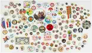 144 Political, War, and Misc. Ephemera Items, incl.