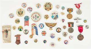 Group of War Related Buttons, incl. WWII